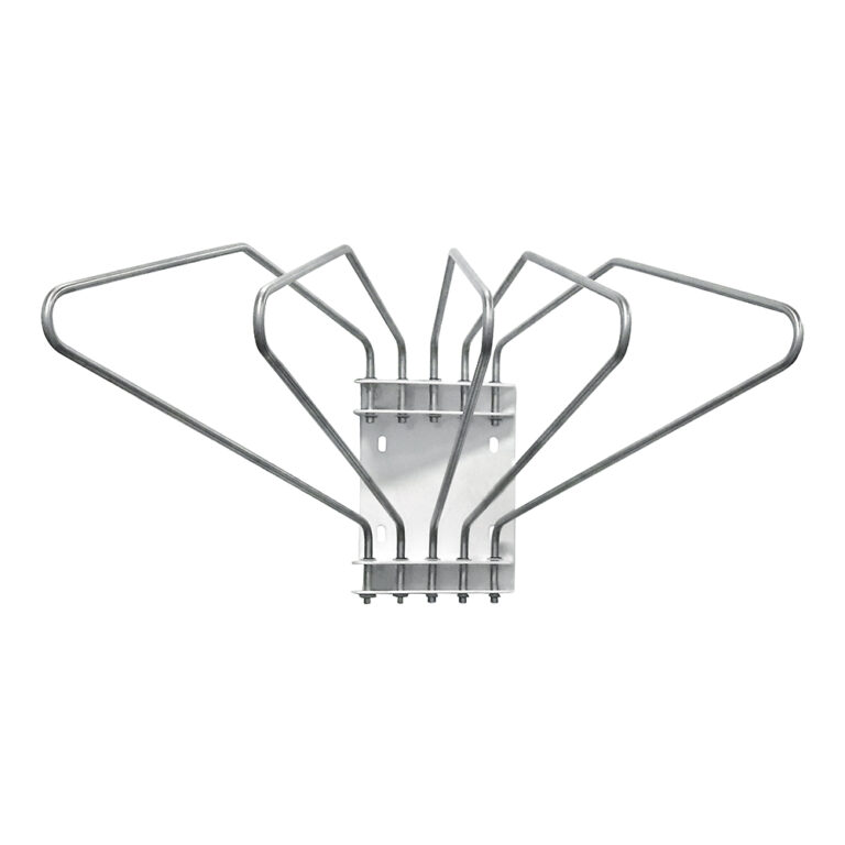 Five Arm Lead Apron Wall Rack Front Angle