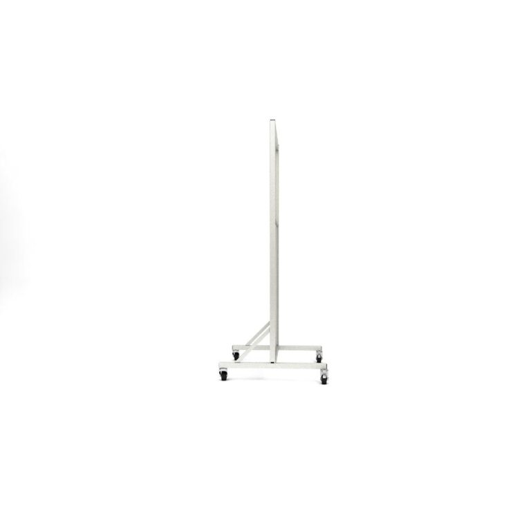 Mobile Leaded Barrier 2430 Angled to the Side with Mobile Casters