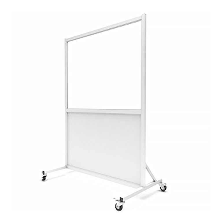 Mobile Leaded Barrier 3648 Angled to the Left Side with Mobile Casters