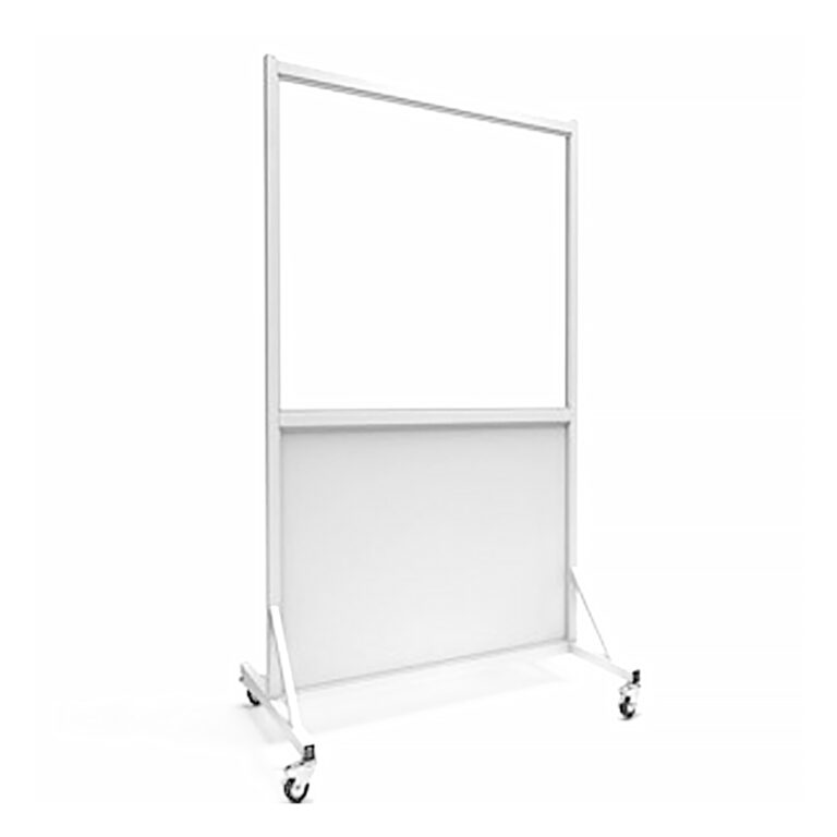 Mobile Leaded Barrier 3648 Angled to the Right Side with Mobile Casters