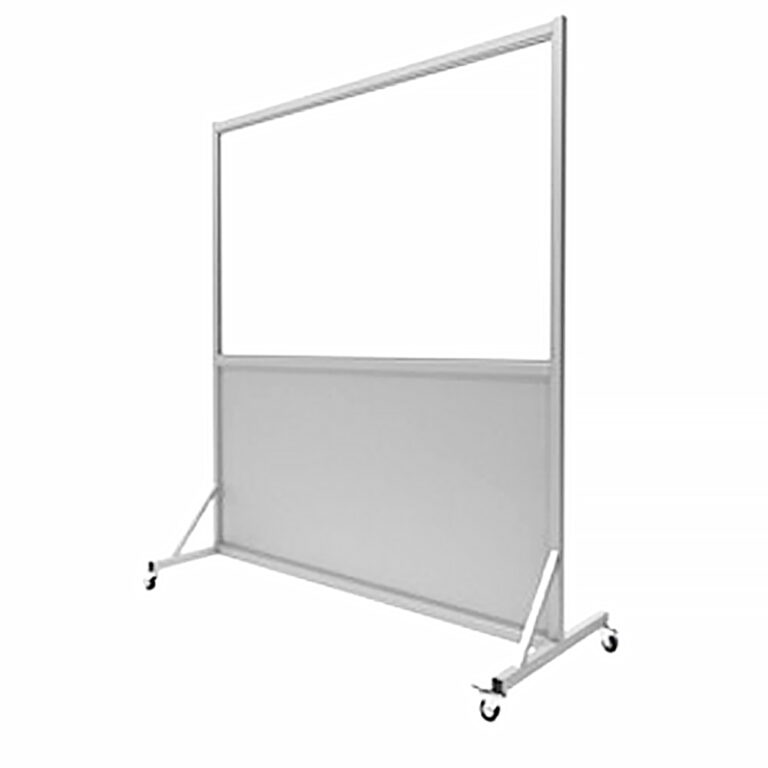 Mobile Leaded Barrier 3672 Angled to the Left Side with Mobile Casters