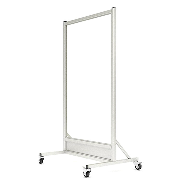 Mobile-Leaded Barrier-3060-Angle-Left with Mobile Casters