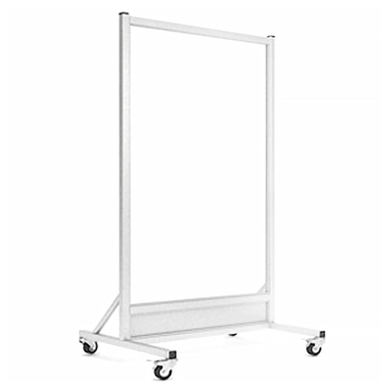 Mobile-Leaded Barrier-3060-Angle-Right with Mobile Casters