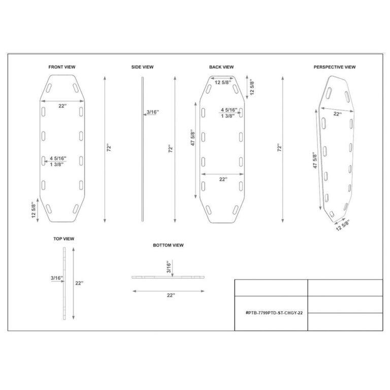 Anti Static Transfer Board In Charcoal Dimension Sheet