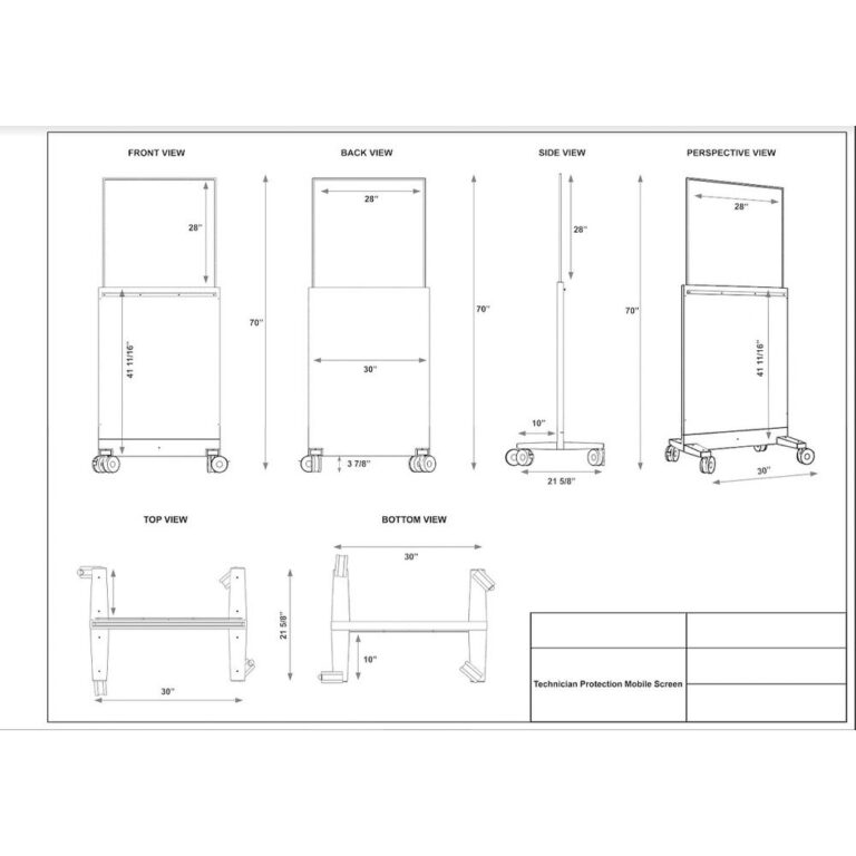 Collapsible Lead Barrier Dimension Sheet