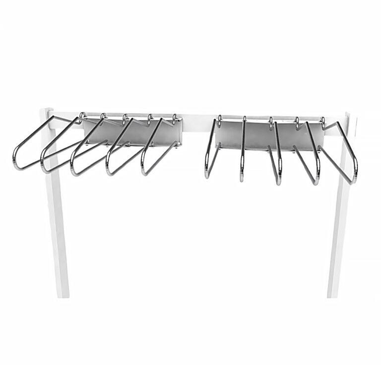 Top portion of the Deca-Rak, focusing on the hangers