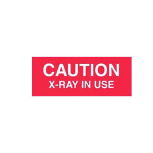 Red Magnetic Plastic Caution Sign with White Font