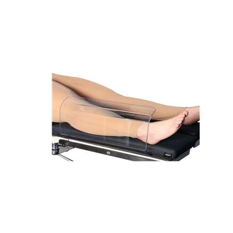 Medium Toboggan Arm Board in use on patient leg