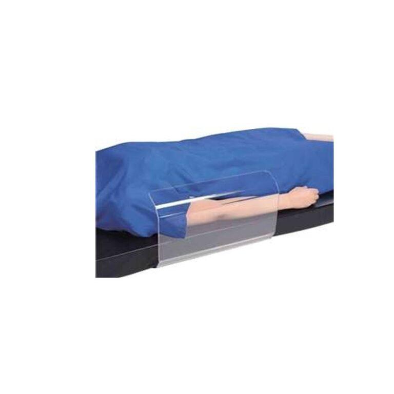 Medium Toboggan Arm Board in use on patient arm