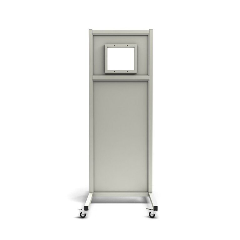 Mobile Leaded Barrier 2472 Angled to the Front with Mobile Casters