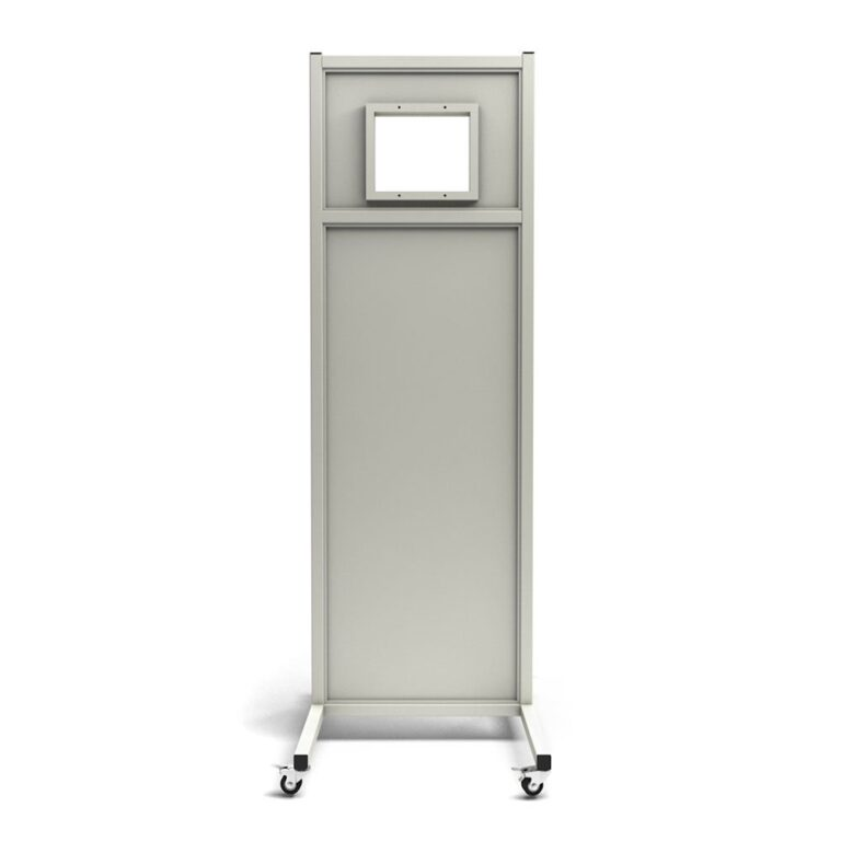 Mobile Leaded Barrier 1012-2484 Angled to the Front with Mobile Casters