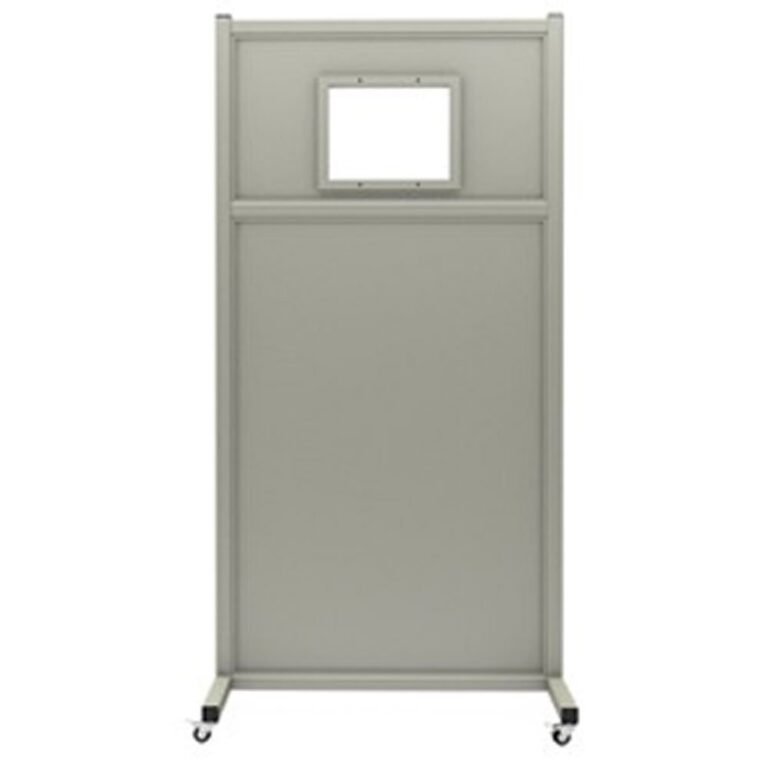 Mobile Leaded Barrier 1012-3072 Angled to the Front with Mobile Casters