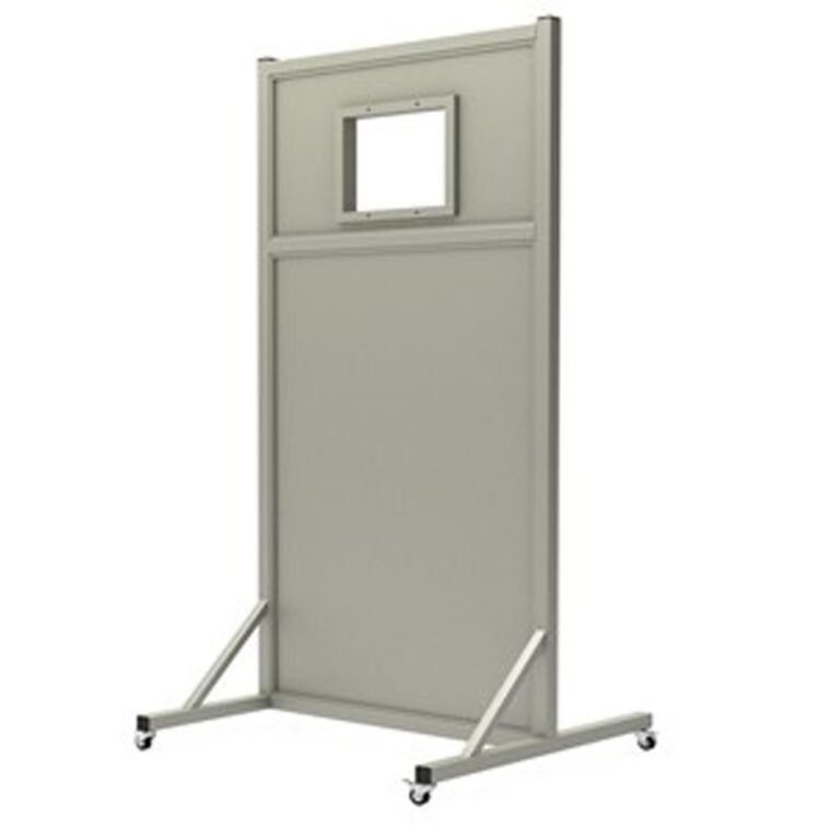 Mobile Leaded Barrier 3072 Angled to the Side with Mobile Casters
