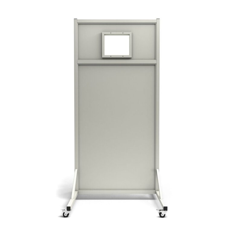 Mobile Leaded Barrier 3684 Angled to the Front with Mobile Casters
