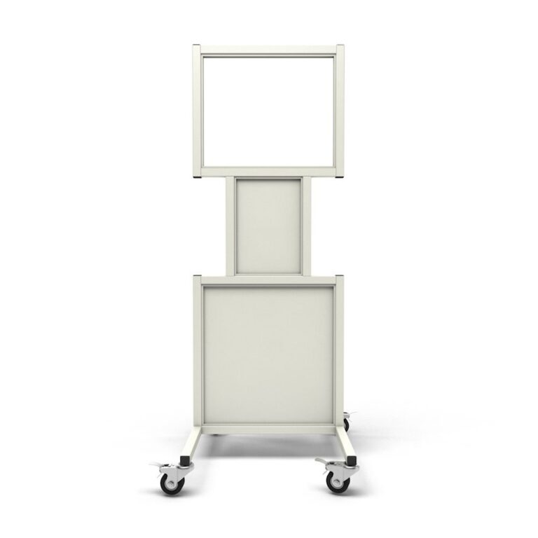 Mobile Leaded Barrier 2024-N Angled to the Front with Mobile Casters
