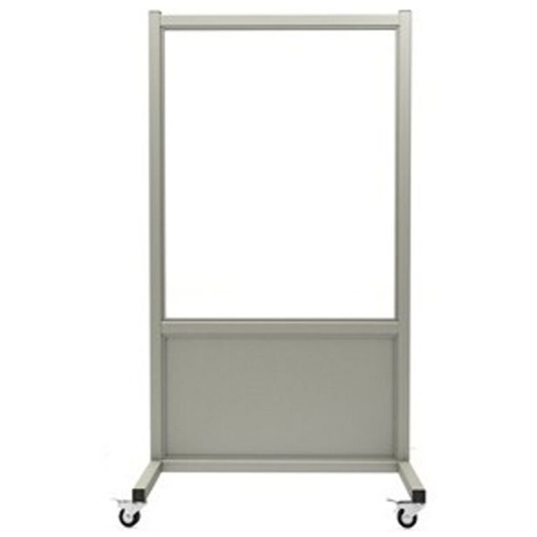 Mobile Leaded Barrier 3036 Front Angle with Mobile Casters