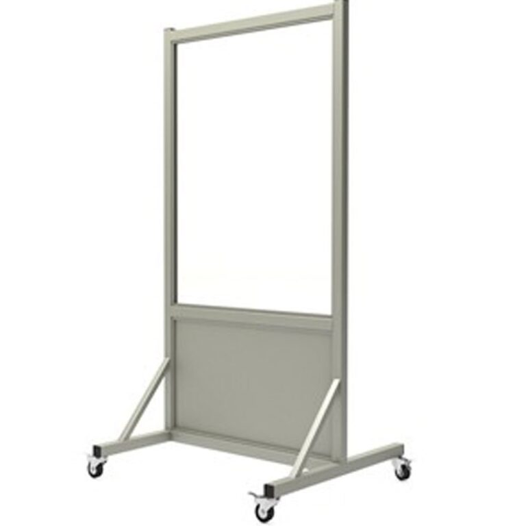 Mobile Leaded Barrier-3036 Side Left with Mobile Casters