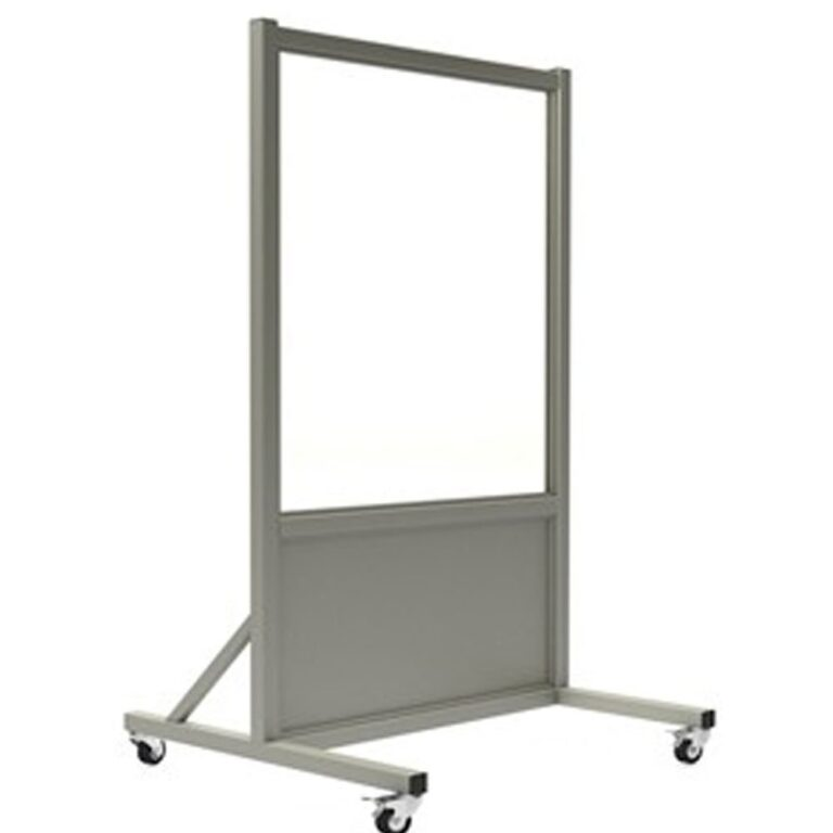 Mobile Leaded Barrier 3036 Angled to the Right with Mobile Casters