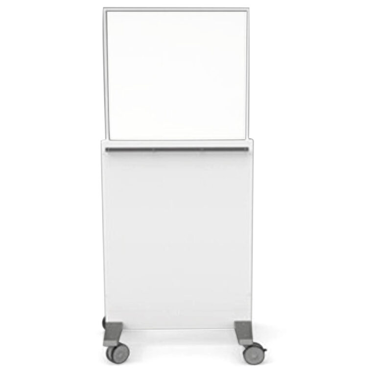 Mobile Leaded Barrier-7429 Angled to the Front with Mobile Casters
