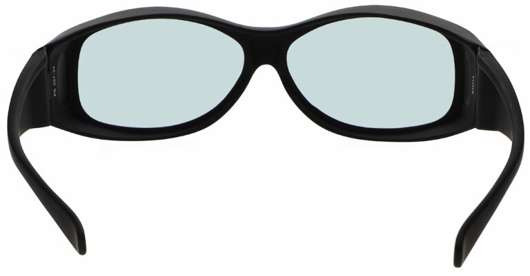 Model 33 Radiation Glasses and Laser Safety Glasses in Black, Rear Angle