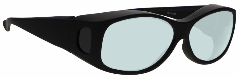 Model 33 Radiation Glasses and Laser Safety Glasses in Black, Side Right Angle