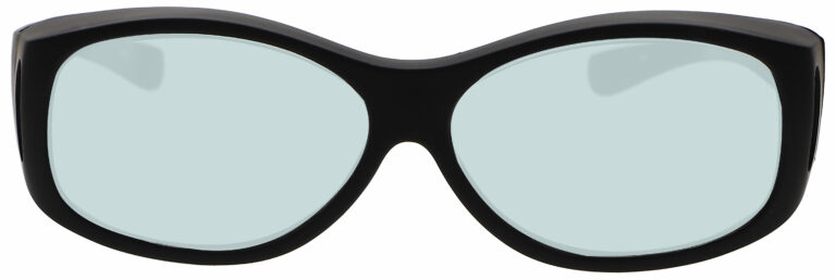 Model 33 Radiation Glasses and Laser Safety Glasses in Black, Front Angle