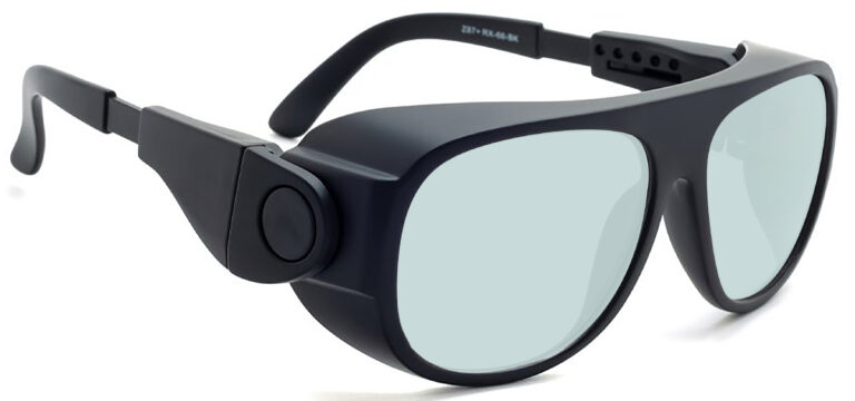 Model 66 Radiation and Laser Safety Glasses in Black, Side Right Angle