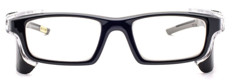 Phillips Model 17012 Radiation Glasses in Black, Front Angle