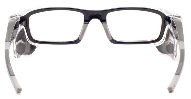 Phillips Model 17012 Radiation Glasses in Black, Rear Angle