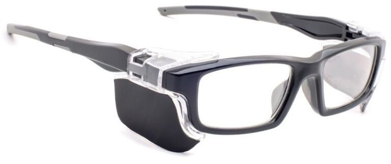 Phillips Model 17012 Radiation Glasses in Black, Side Right Angle