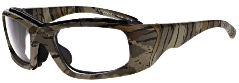 Phillips Model JY702 Radiation Glasses in Camo, Side Left Angle