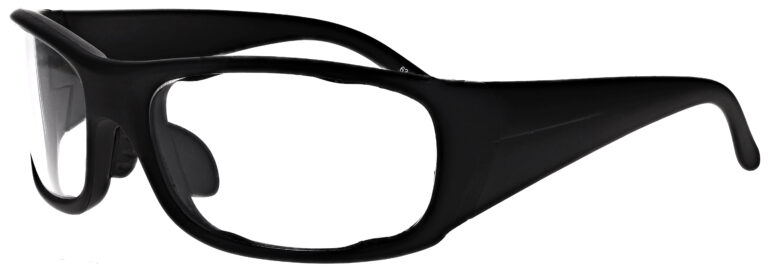 Phillips Model P820 Radiation Glasses in Black, Side Left Angle