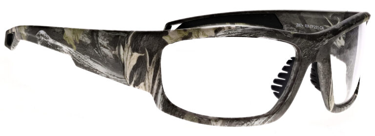 Phillips Model TP251 Radiation Glasses in Camo, Side Right Angle