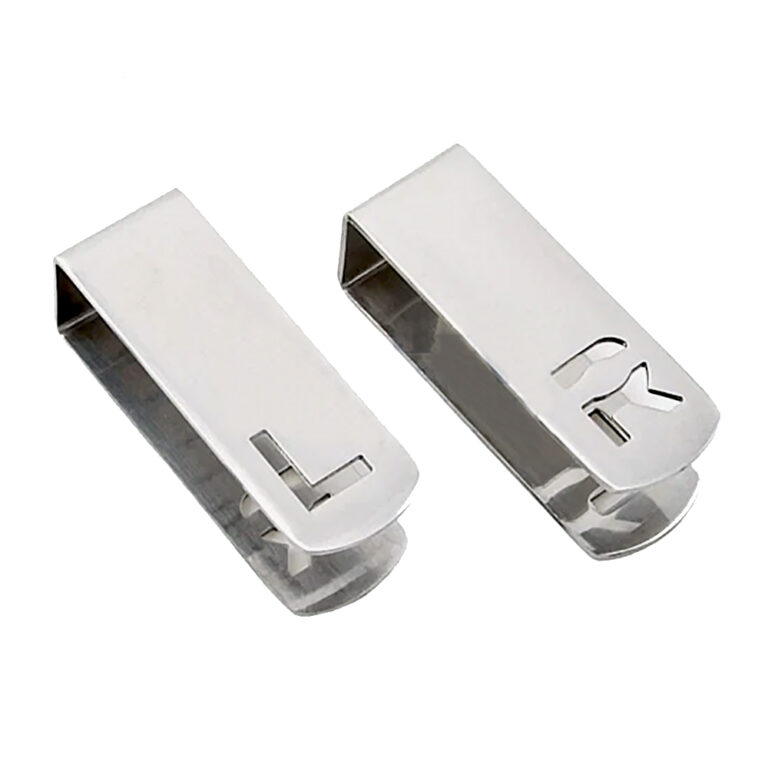 Stainless steel x ray marker clip with reversible left and right