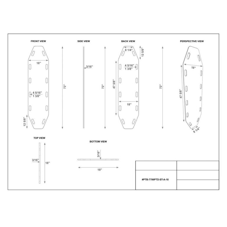 Static Treated Aqua Board-18 Dimension Sheet