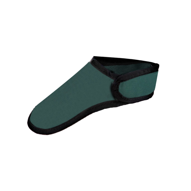 Thyroid Shield in Green, Side Angle