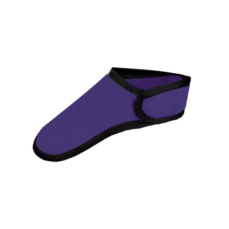 Thyroid Shield in Purple, Side Angle