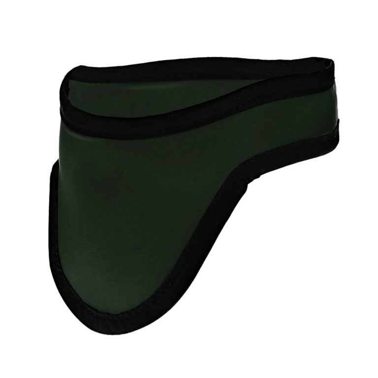 Thyroid Shield/Thyroid Collar in Green, Side Left Angle