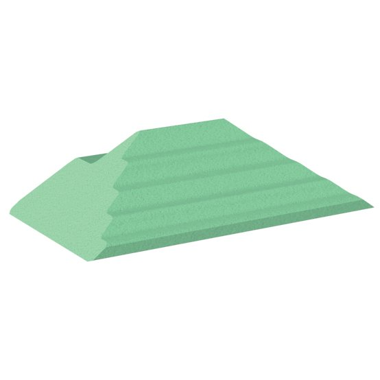 Green Stealth Cote adult finger oblique for x-Rays