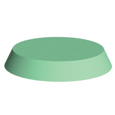 Green Stealth Cote circular head block for x-Rays