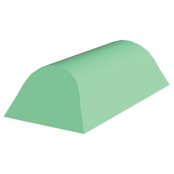 Green Stealth Cote Cervical Head Rest Foam for x-Rays