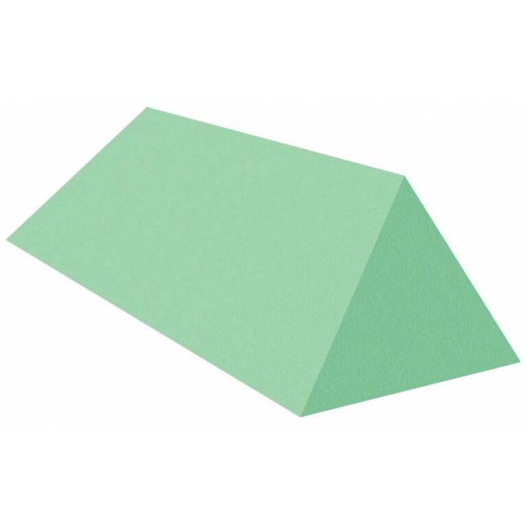 Green Stealth Cote 45 degree spinal wedge for x-Rays