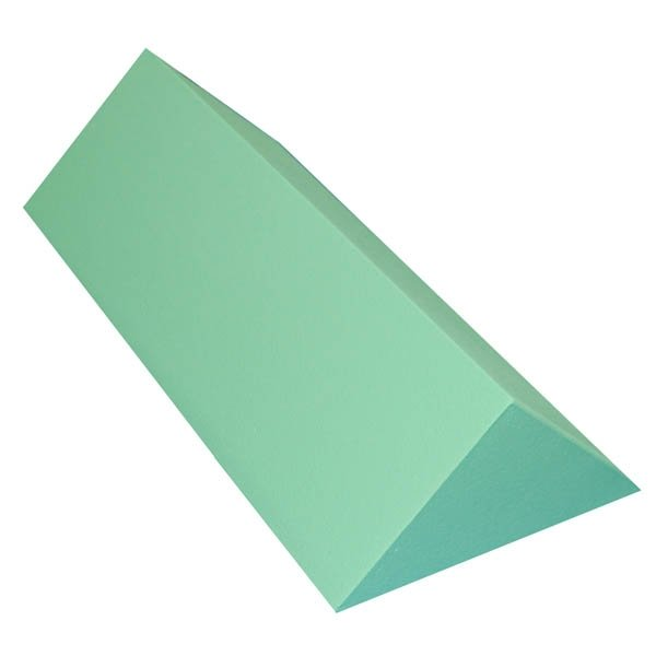 Non-Stealth Traditional 45 Degree Spinal Body Wedge Coated, Radiolucent green wedge and Center angle