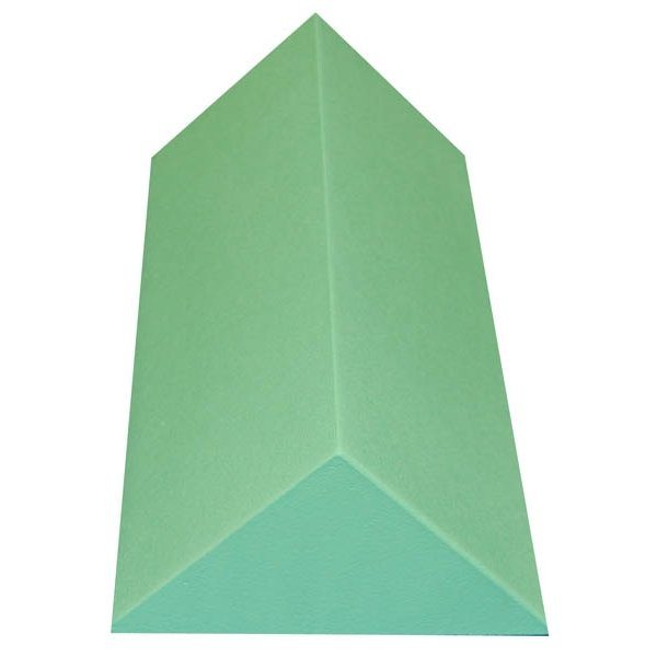 Non-Stealth Traditional 45 Degree Spinal Body Wedge Coated, Radiolucent green wedge and back angle