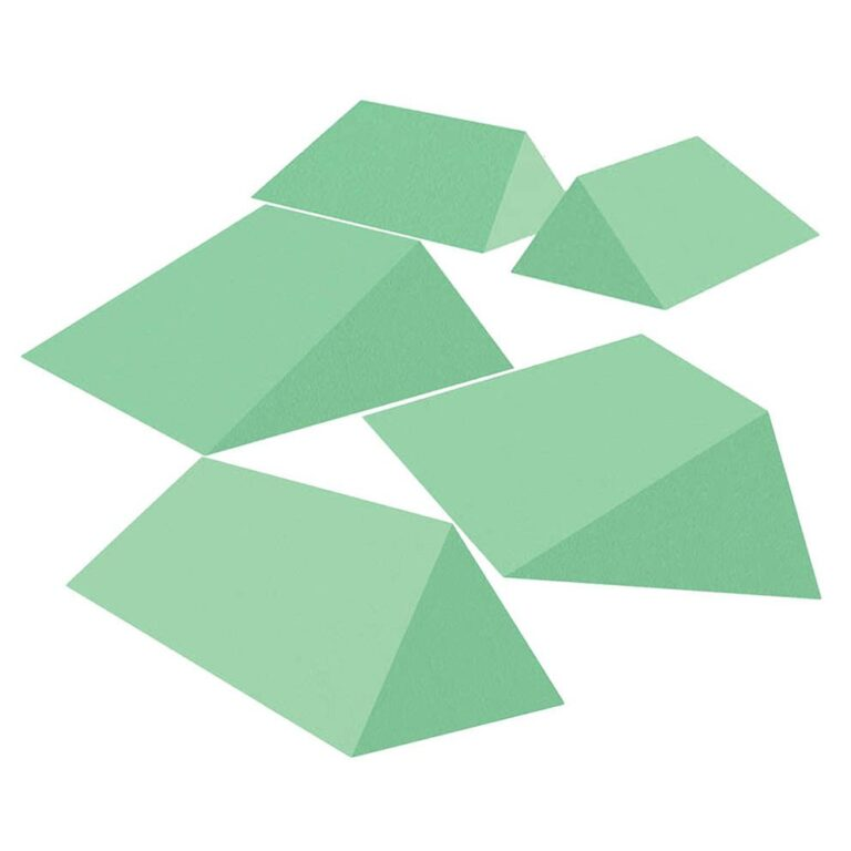 Green Stealth Cote Clinic Radiolucent Wedge Kit B for X-Rays
