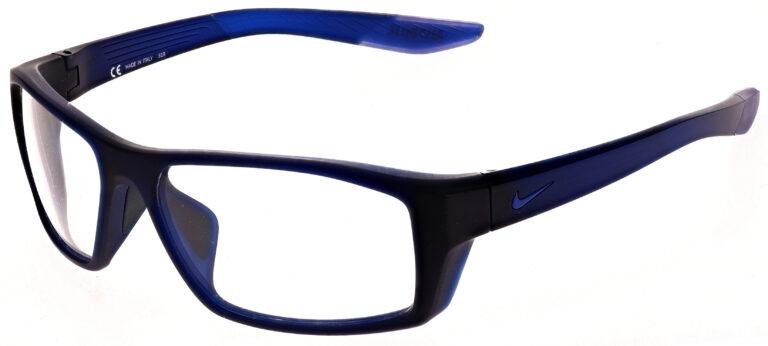 Nike Brazen Shadow M Radiation Glasses in Matte Dark Obsidian, Angled to the Side Left