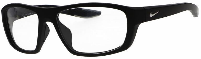 Nike Brazen Boost M Radiation Glasses in Matte Black, Angled to the Side Left