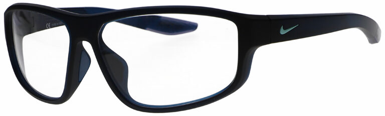 Nike Brazen Fuel M Radiation Glasses in Matte Space Blue Frame, Angled to the Side Left