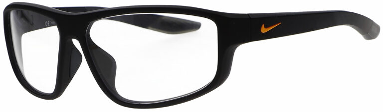 Nike Brazen Fuel M Radiation Glasses in Matte Obsidian Frame, Angled to the Side Left