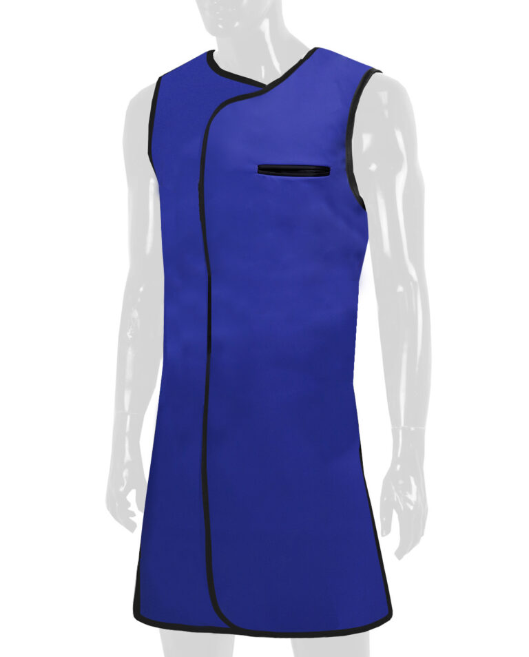 Attenutech One Piece Wrap Around Apron, Angled to the Front